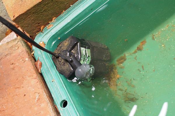 亀池の濾過装置