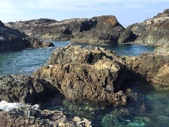 潮岬の岩場